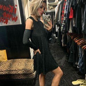 BCBG generation cut out gray/black dress XXS & XS